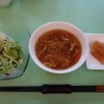 菩提樹 - (2013/10月)訪問日のBランチのサラダとスープと漬物