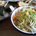 ソウアン - 麺とおむすびセット \650