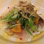 イタリア料理屋 タント ドマーニ - 鮮魚のカルパッチョ ソースは本日のお楽しみ