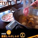 大島本陣茶屋 - 料理写真:周防大島の新名物!これが噂のみかんしゃぶしゃぶ♪柑橘系の香りが食欲をそそります♪