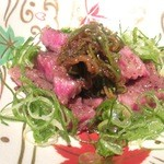神戸牛 吉祥吉 - ネギとジュレポン酢でサーロインをあっさりと食べる