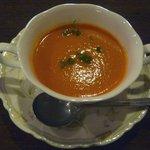 ビストロ 後藤 - あみやきステーキランチのトマトスープ