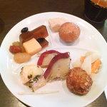 2317715 - デザート/酢の物/かぼちゃコロッケ/じゃが芋明太/薩摩芋の煮物