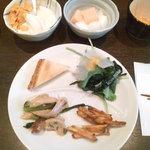 2317717 - 豆乳きなこソフトとシリアル/生野菜/海老のすり身のホットサンド