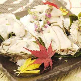 牡蠣料理酢ガキ、焼き、天ぷらなど¥600~