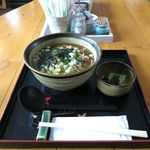 ちんぐるま - 料理写真:温かいそば+卵(300円+50円)