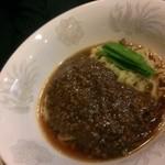 万里村 - 肉味噌あんかけラーメン(2013/12)