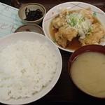 升亀 - 鶏天定食 550円