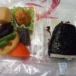 23177655 - 煮物セット¥180と日高昆布おにぎり¥150