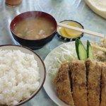 銀星食堂 - A定食(メンチカツ)