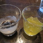 スコール - コーヒーゼリーとはちみつレモンゼリー