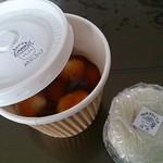 お茶屋さんの焼きもち - みたらし団子と抹茶餅