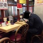 ラーメン壱六家 - 201312 壱六家 店内⇒