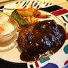 つみき - 料理写真:ハンバーグのランチセット (2013年11月)