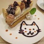 ナチュカフェプラス - お連れ様のケーキが可愛くて美味しそう!