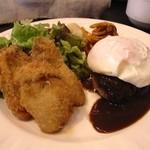 洋食屋中村 - 牡蠣とハンバーグのセット(2013/12)