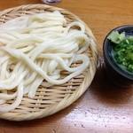 栄楽うどん - ざるうどん@350円