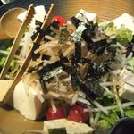 23206467 - 手作り豆富とジャコの和風サラダ