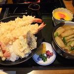 美々卯 - 大海老天丼 1360円。