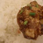 デイナイト - マーボー豆腐とライス