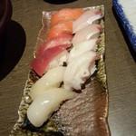 だんまや水産 - 寿司 お任せ5点盛り×2人前(2013.12.20)