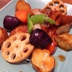 大戸屋 - 真鱈と野菜の黒酢あん定食