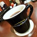 Irish pub Booties・・・ - コーヒーのカップはお店のオリジナルですね(^^)