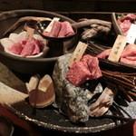 秋田牛玄亭 - 黒毛和牛5点盛り合わせ