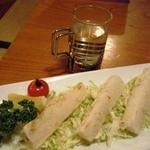 八島 - 国稀と長芋サクサク揚げ