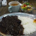 AKAI TORI - 黒カレーセット(890円)