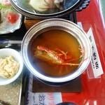 漁港食堂 だいぼ - 館山伊勢海老ステーキ御膳(中華風雑炊)