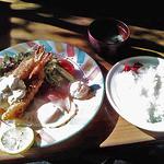 カフェレスト桃の街 - 料理写真:エビフライセット(840円)
