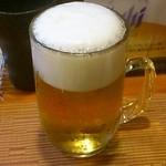 とりのぜん一鳥 - 生ビール(スーパードライ)
