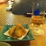 中野青二才 - とうもろこしのフリットは甘くて美味しいです。