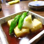 やきとり酒場 - 揚げ出し豆腐370円