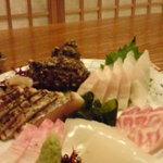 三隈 - あら、石鯛、あこう、さわらのたたき、いかの刺身!絶品新鮮♪