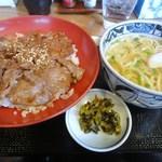 安芸若 - 和牛焼肉丼セット(13.11)
