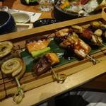 23242119 - 焼き魚串五種盛合せ