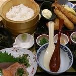 四六時中 - 「海老ひれかつと刺身御膳」(1,239円)
