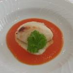 ラ・ロゼット - 12月 焼きたての蟹のムースリーヌ パプリカソース