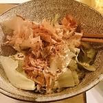 角壱 - レタスの炭火焼きサラダ、アンチョビソースがけ