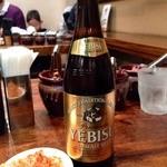 博多 一風堂 - びんビール(480円)