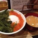 IKR51with五拾壱製麺 - ぷちぷち丼&しじみ汁(サービス)