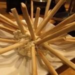 炭火屋 buchi - 2013ツイ友忘年会 プレッツェルとクリームチーズ