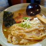 麺や 桜風 - らーめん(塩) 700円 + 大盛り 100円