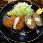 とんかつ高山 - チーズ入りメンチ・ヒレ