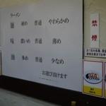 岡村屋 - 次は麺普通、味薄目、油少なめで試してみる(∀`*ゞ)エヘヘ