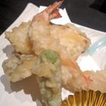 町衆料理 京もん - 天ぷら盛り合わせアップ