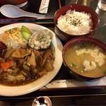 風来坊 - 生姜焼き定食 700円