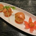 三日月 - 料理写真:チーズinもっちりじゃが団子550円